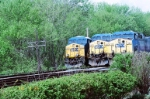 Three CSX engine at the yard